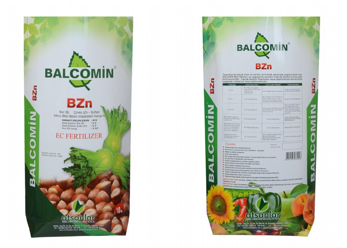 Balcomin ( B ) %6 - ( Zn ) %2 + ( Cl ) % 0.2